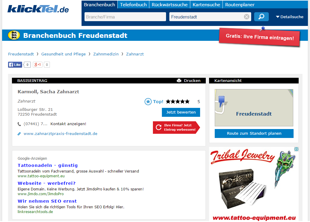 Klicktel Profil